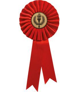 """Single Tier Red Rosette 25.5cm (10"""")"""