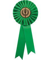 """Single Tier Green Rosette 25.5cm (10"""")"""