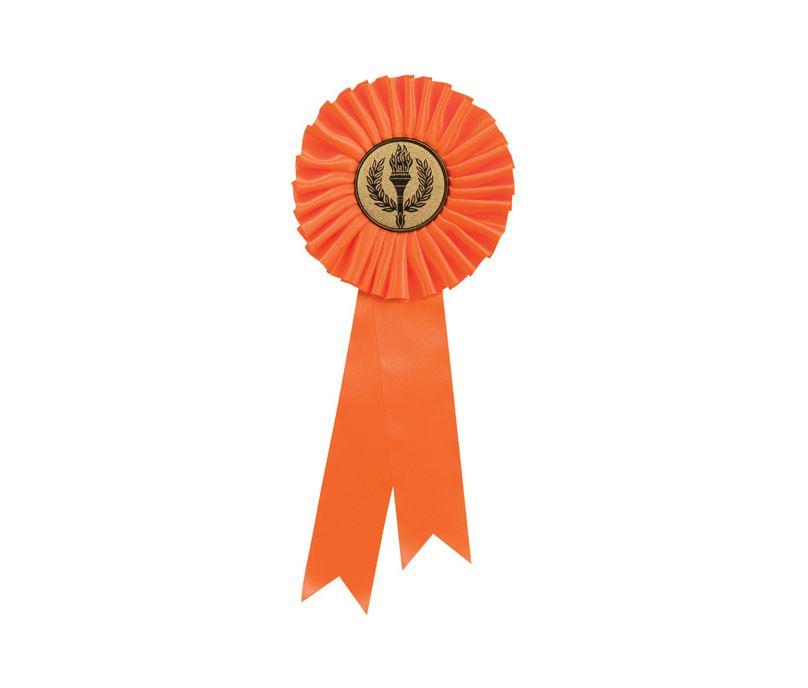 "Single Tier Orange Rosette 25.5cm (10"")"