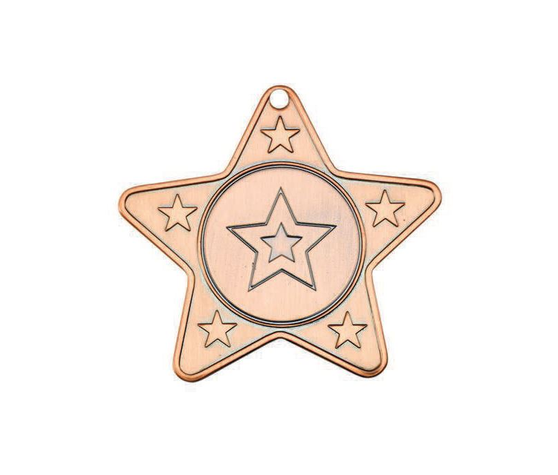 "5 Star Multi Sport Medal Bronze 50mm (2"")"