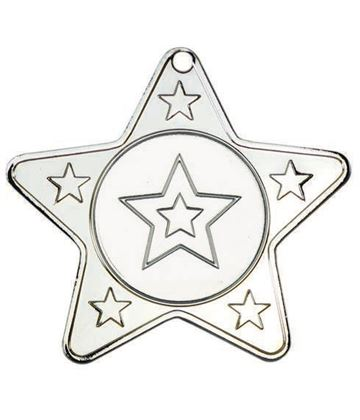 "5 Star Multi Sport Medal Silver 50mm (2"")"