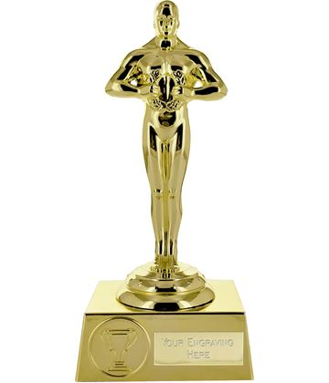 "Supreme Achievement Statue Trophy All Gold 18cm (7"")"