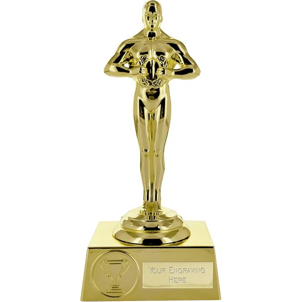 "Supreme Achievement Statue Trophy All Gold 18cm (7"")"