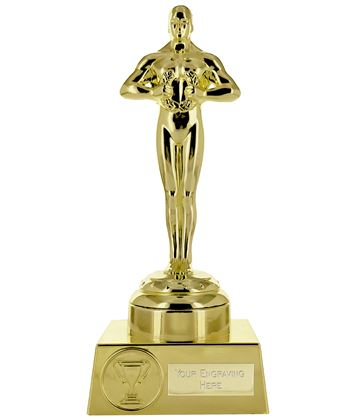 "Supreme Achievement Statue Trophy All Gold 19.5cm (7.5"")"