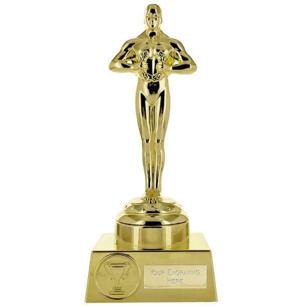 "Supreme Achievement Statue Trophy All Gold 19.5cm (7.5"")"