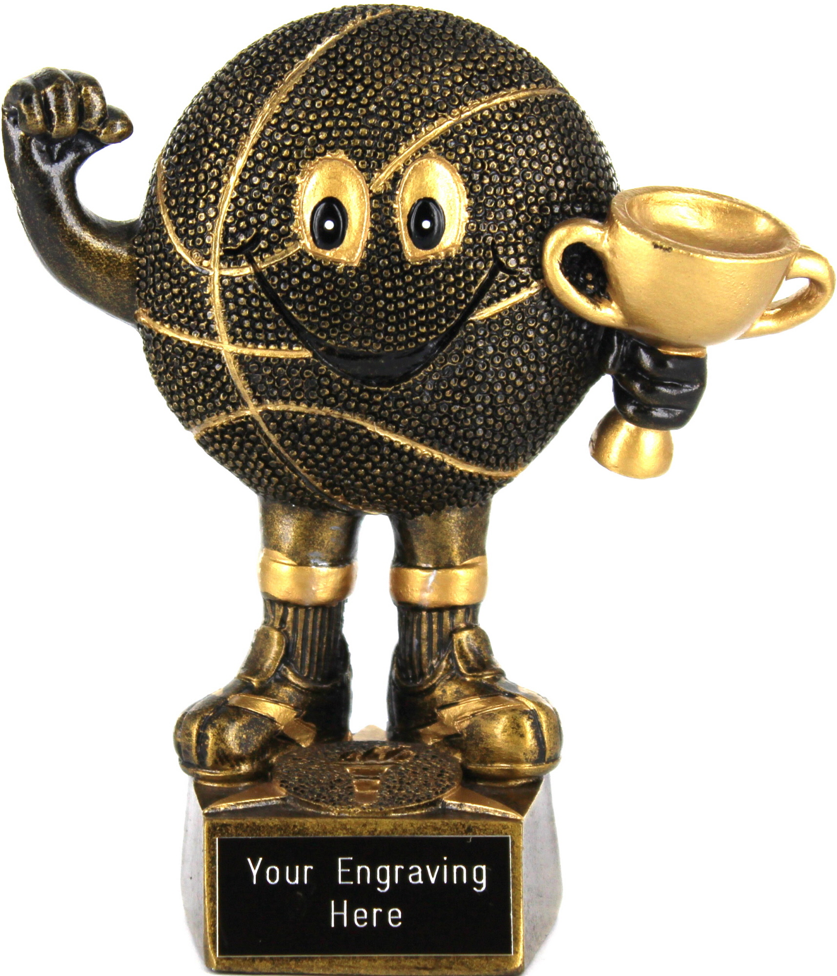 "Novelty Basketball Trophy 14cm (5.5"")"