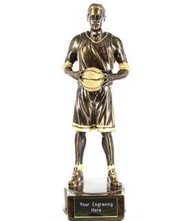 "Male Basketball Player Figure Trophy 21cm (8.25"")"