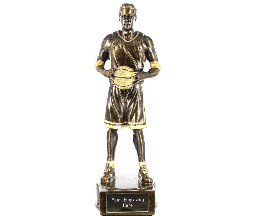 """Male Basketball Player Figure Trophy 21cm (8.25"""")"""