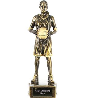 "Female Basketball Player Figure Trophy 21cm (8.25"")"