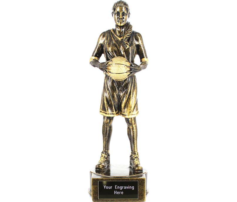 "Female Basketball Player Figure Trophy 21cm (8.25"")"