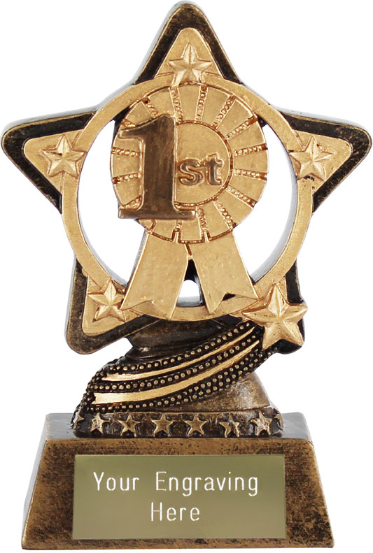 "1st Place Trophy by Infinity Stars 10cm (4"")"