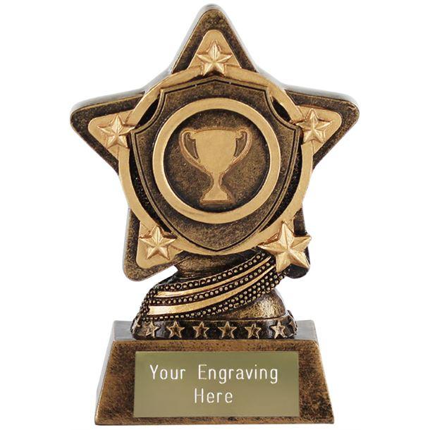 "Shield Trophy by Infinity Stars 10cm (4"")"