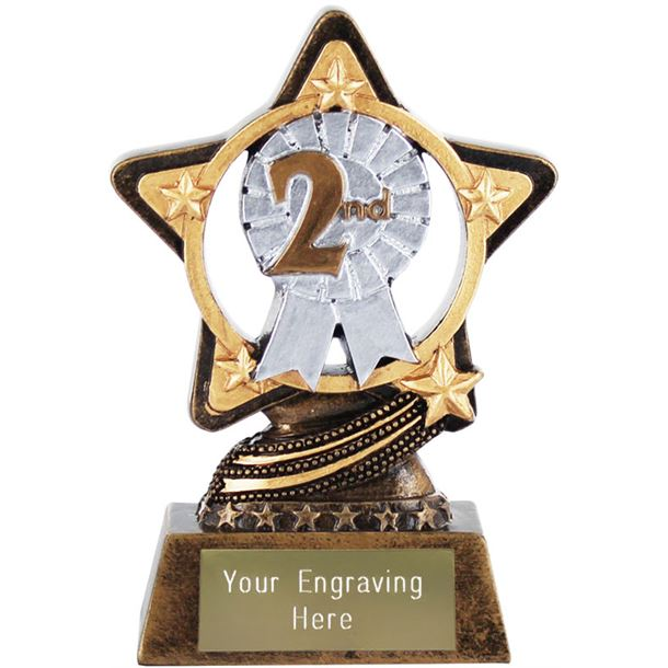 """2nd Place Trophy by Infinity Stars 10cm (4"""")"""