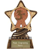"""3rd Place Trophy by Infinity Stars 10cm (4"""")"""