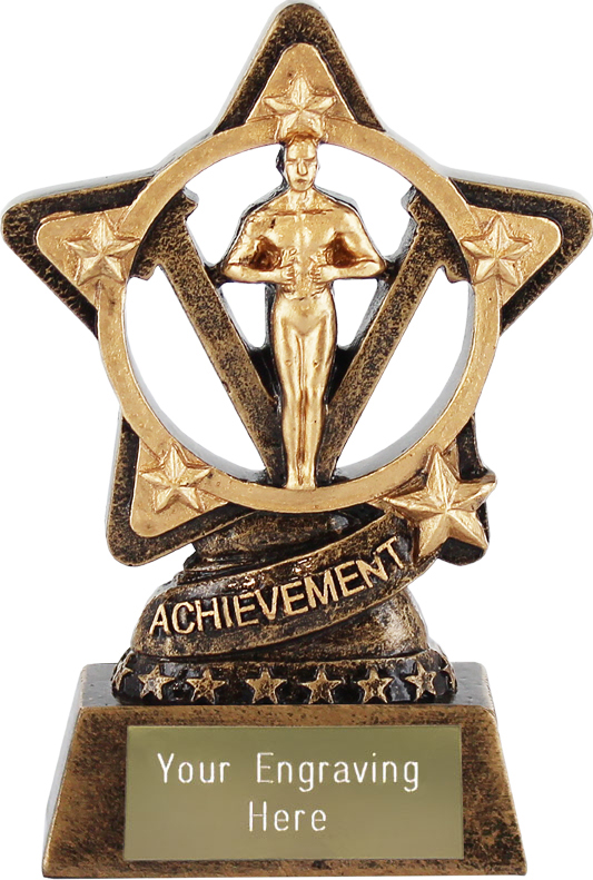 "Achievement Statue Trophy by Infinity Stars 10cm (4"")"