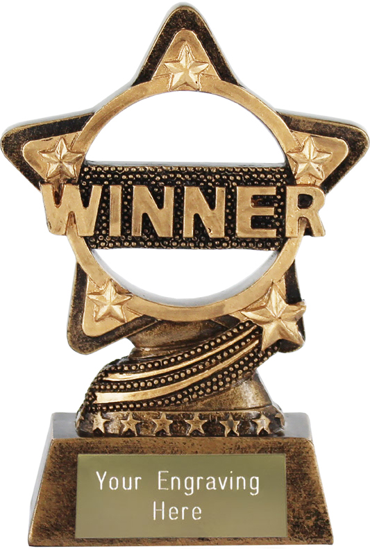 "Winner Trophy by Infinity Stars 10cm (4"")"