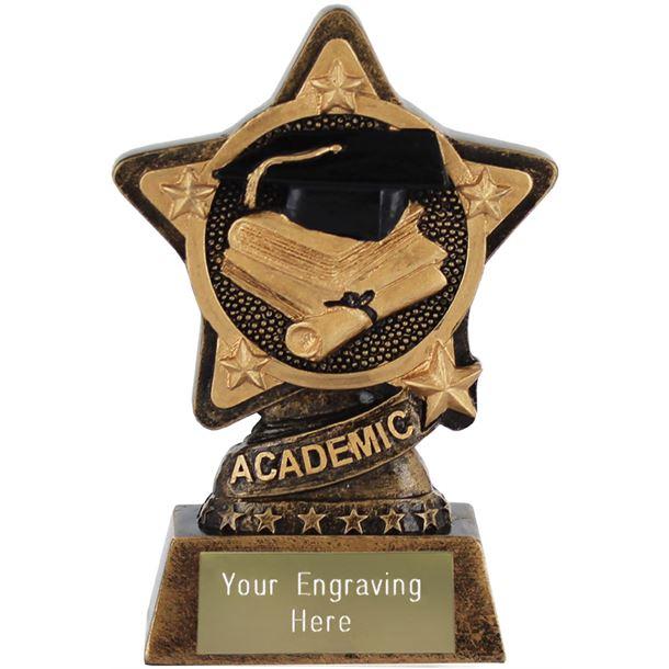 "Academic Trophy by Infinity Stars 10cm (4"")"