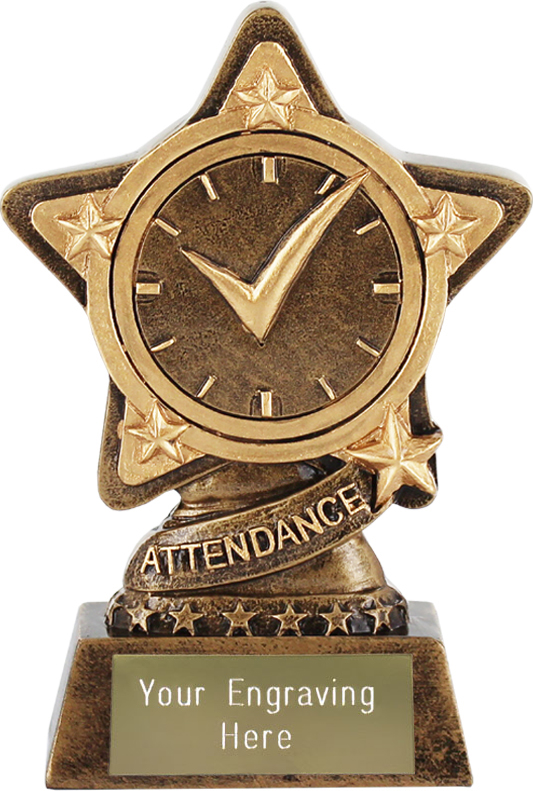 "Attendance Trophy by Infinity Stars 10cm (4"")"