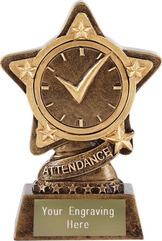 "Attendance Trophy by Infinity Stars 10cm (4"")"