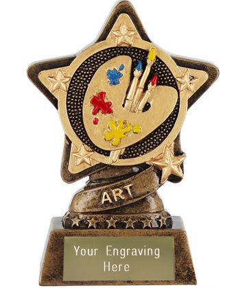 "Art Trophy by Infinity Stars 10cm (4"")"