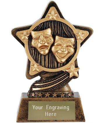"""Drama Trophy by Infinity Stars 10cm (4"""")"""