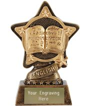 "English Trophy by Infinity Stars 10cm (4"")"