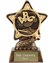 "Spelling Trophy by Infinity Stars 10cm (4"")"