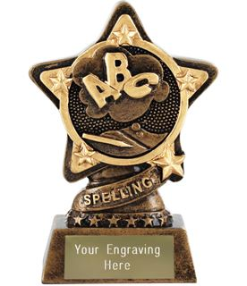 "Spelling Trophy by Infinity Stars 10cm (4"")"