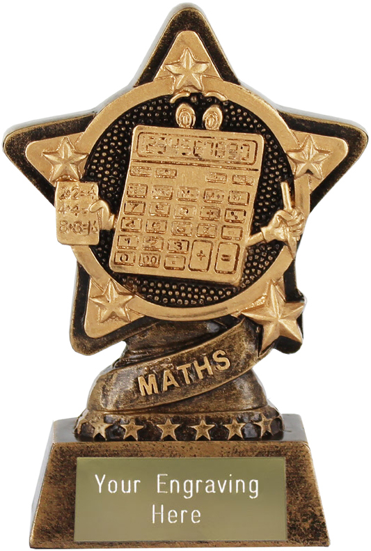 "Maths Trophy by Infinity Stars 10cm (4"")"