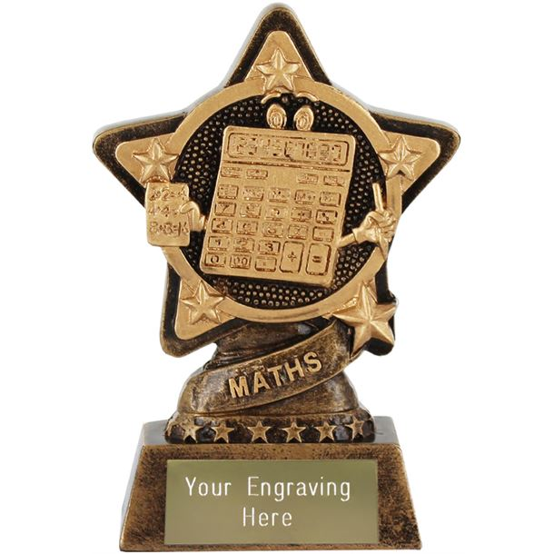 """Maths Trophy by Infinity Stars 10cm (4"""")"""