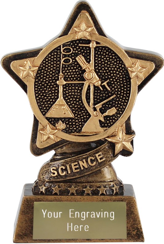 "Science Trophy by Infinity Stars 10cm (4"")"