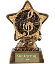 "Music Trophy by Infinity Stars 10cm (4"")"