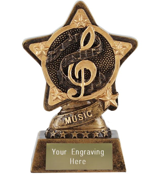 """Music Trophy by Infinity Stars 10cm (4"""")"""