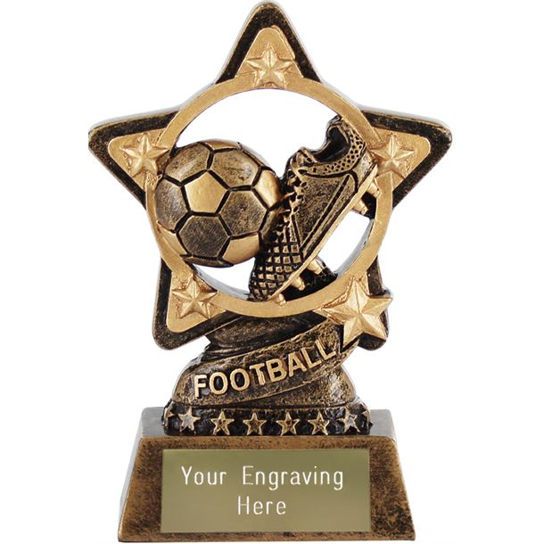 """Football Trophy by Infinity Stars 10cm (4"""")"""