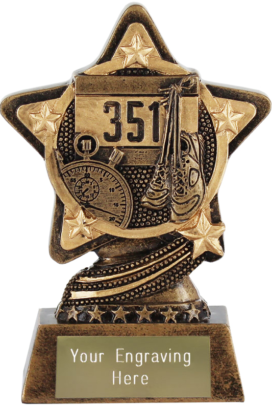 "Athletics Trophy by Infinity Stars 10cm (4"")"