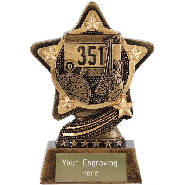 "Athletics Trophy by Infinity Stars 10cm (4"")"