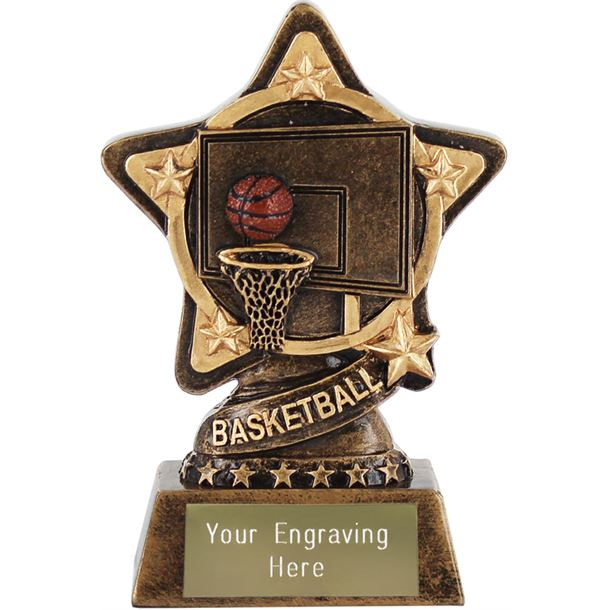 "Basketball Trophy by Infinity Stars 10cm (4"")"