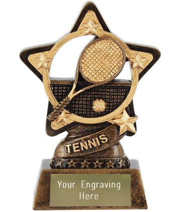 "Tennis Trophy by Infinity Stars 10cm (4"")"