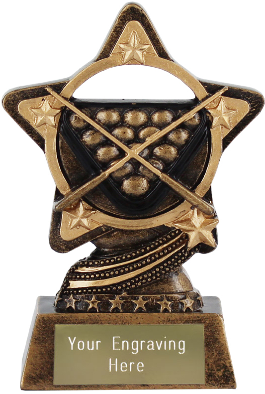 "Snooker and Pool Trophy by Infinity Stars 10cm (4"")"