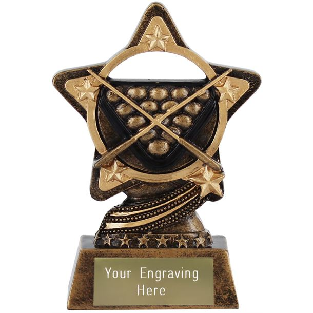 """Snooker and Pool Trophy by Infinity Stars 10cm (4"""")"""