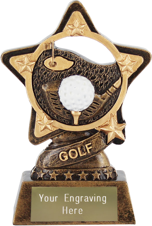 "Golf Trophy by Infinity Stars 10cm (4"")"