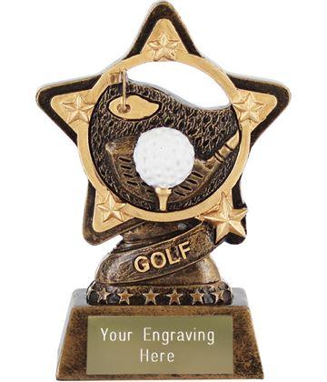 "Golf Trophy by Infinity Stars 10cm (4"")"