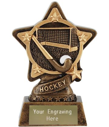 "Hockey Trophy by Infinity Stars 10cm (4"")"