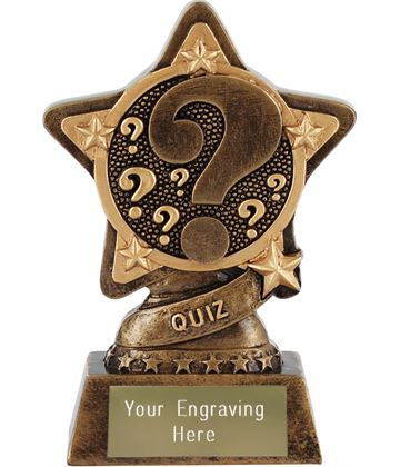 "Quiz Trophy by Infinity Stars 10cm (4"")"