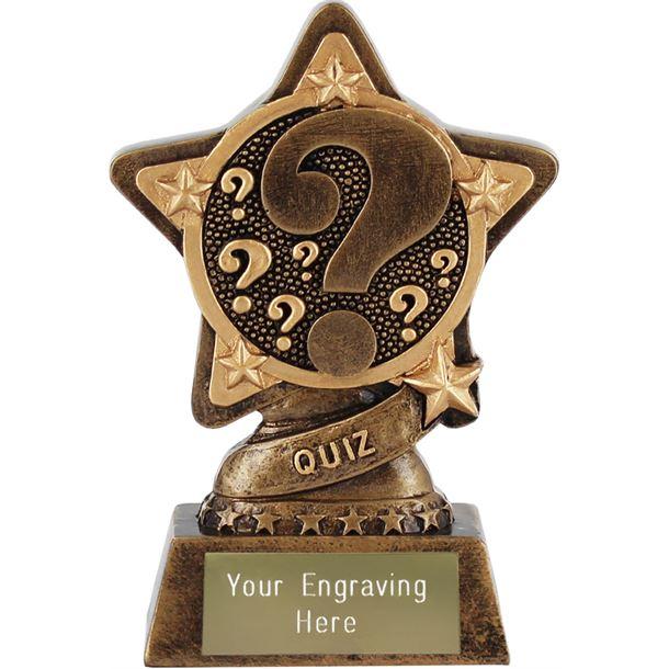 "Quiz Trophy by Infinity Stars 10cm (4"")"