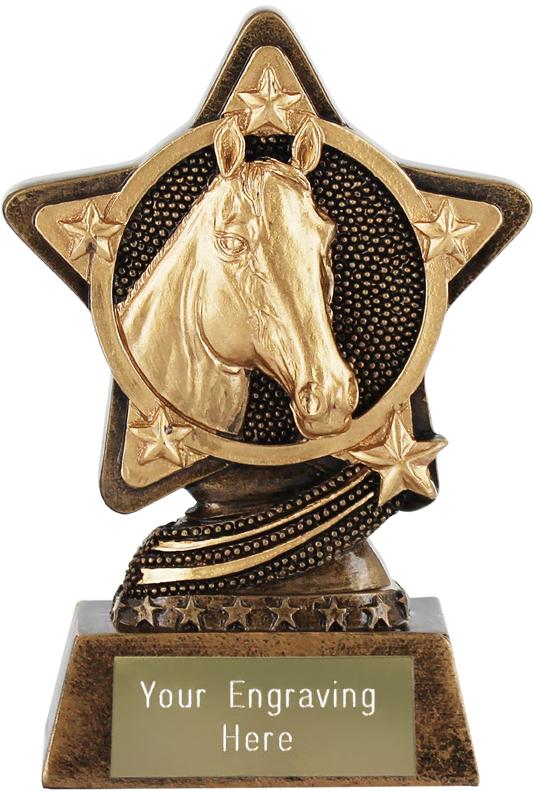 "Equestrian Trophy by Infinity Stars 10cm (4"")"