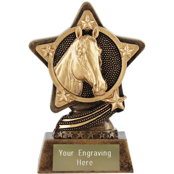 "Equestrian Trophy by Infinity Stars 10cm (4"")"
