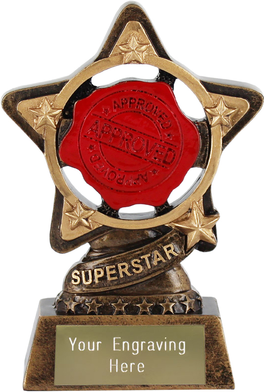 "Superstar Trophy by Infinity Stars 10cm (4"")"