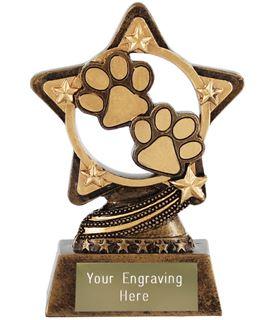 """Paw Print Trophy by Infinity Stars 10cm (4"""")"""