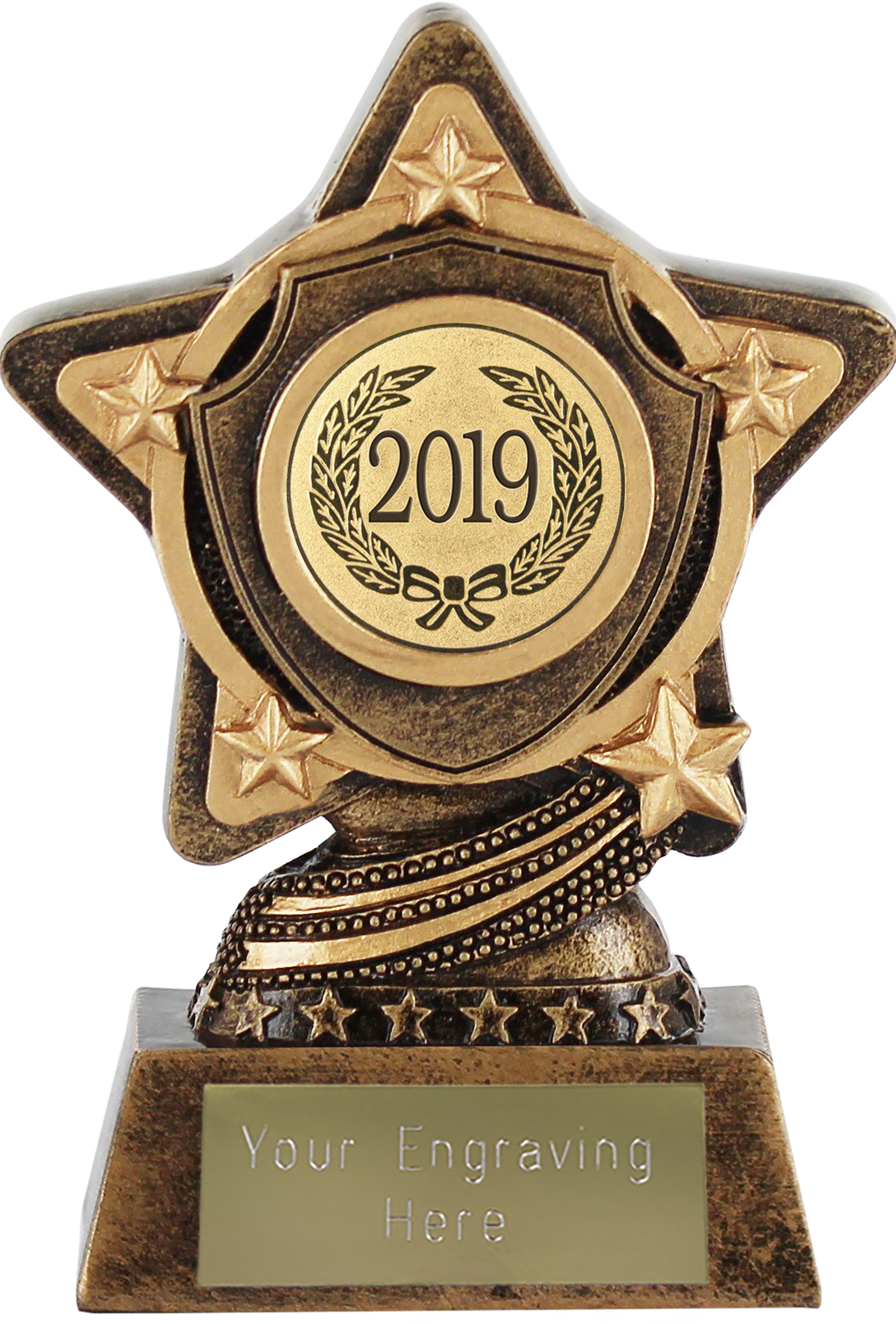 "2019 Gold Infinity Star Trophy 10cm (4"")"